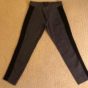 Grey & Black Banana Republic Sloan Stretch Pants